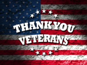 45220769 - thank you veterans card american flag grunge background